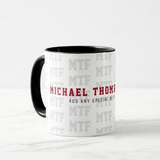 entwerfen Sie ein mit Monogramm, Namens-/die Tasse