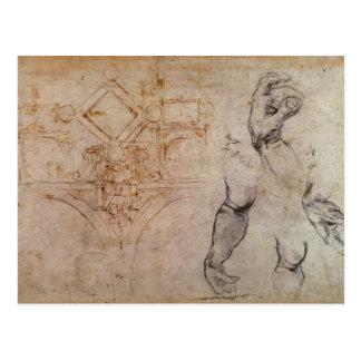 Entwerfen Sie für die Sistine Kapellen-Decke, Postkarte