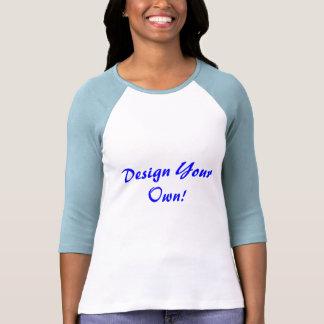Entwerfen Sie Ihr eigenes Weiß und Baby-Blau T Shirts