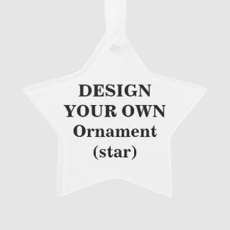 Entwerfen Sie Ihre eigene Acrylverzierung (Stern) Ornament