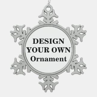 Entwerfen Sie Ihre eigene Schneeflocken Zinn-Ornament