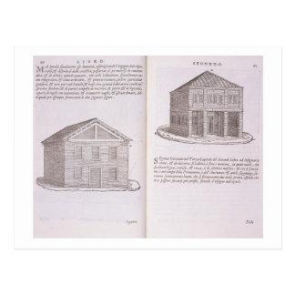 """Entwicklung der Wohnung, von """"Della Architettura"""", Postkarte"""