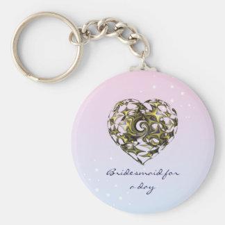Entwirrte Liebe-Herz-Hochzeit Schlüsselanhänger