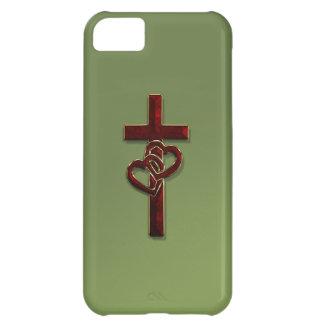 Entwirrtes Herz-Kreuz iPhone 5C Hülle