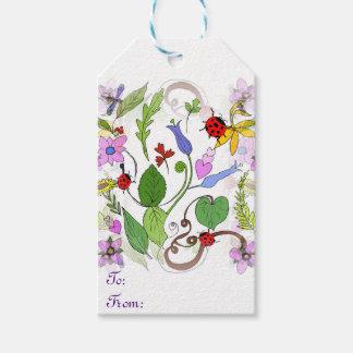 Entworfene Geschenk-Blumenumbauten Geschenkanhänger