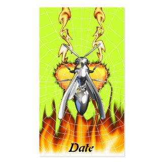Entwurf 4 der gelben Jacke des Chroms mit Feuer Visitenkartenvorlagen