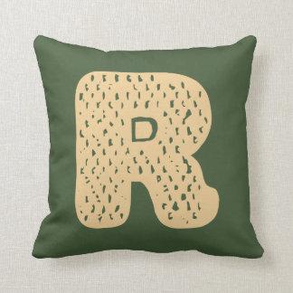 Entwurf des Buchstabe-R Kissen