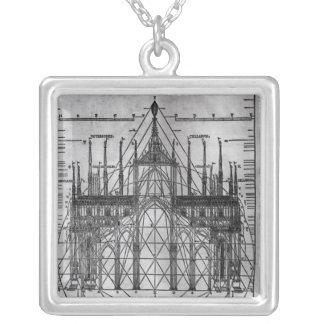 Entwurf für Mailand-Kathedrale Versilberte Kette