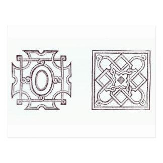 Entwürfe für einen Knoten arbeiten, 'vom Landhaus Postkarte