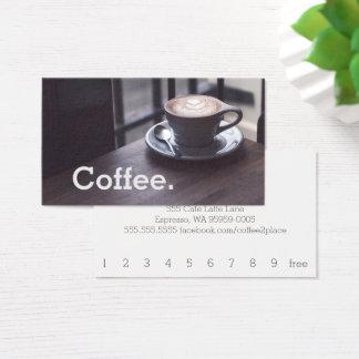 Entwurfs-Kaffee auf Tabellen-einfacher Visitenkarte