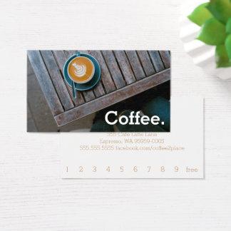 Entwurfs-Kaffee-Quadrat-Tabellen-einfacher Visitenkarte