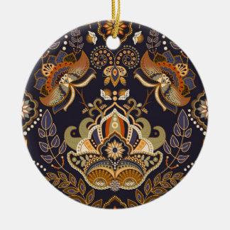 Entwurfs-Mandalas SpitzeHindi Keramik Ornament