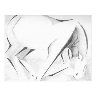 Entwurfs-Pferd abstrakt Postkarte