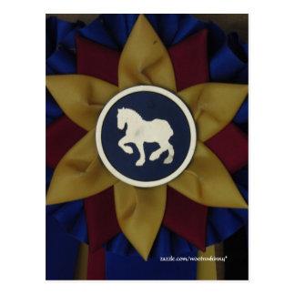 Entwurfs-Pferderosette Postkarte