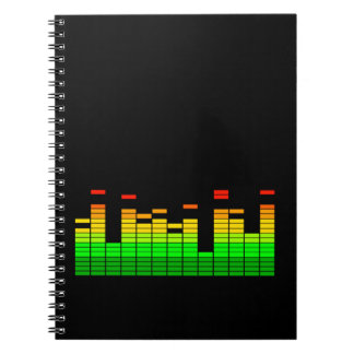Entzerrer-Schwingungen vom Schlag von DJ-Musik Spiral Notizbücher