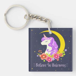 Entzückend glauben Sie an Einhörner Keychain Schlüsselanhänger