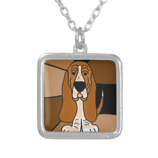 Entzückende Dachshund-Jagdhund-Hundekunst abstrakt Versilberte Kette