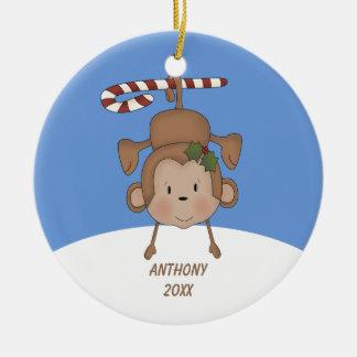Entzückende hängende Affe-Verzierung Keramik Ornament