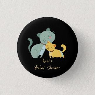 Entzückende Katzen-Babyparty-Knöpfe Runder Button 3,2 Cm