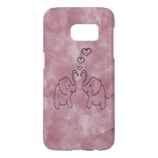 Entzückende niedliche Elefanten in der Liebe