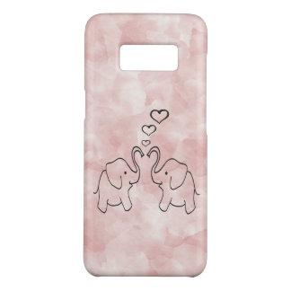 Entzückende niedliche Elefanten in der Liebe Case-Mate Samsung Galaxy S8 Hülle