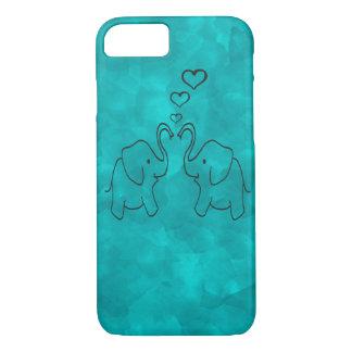 Entzückende niedliche Elefanten in der Liebe iPhone 7 Hülle