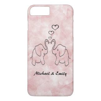 Entzückende niedliche Elefanten in der Liebe iPhone 7 Plus Hülle
