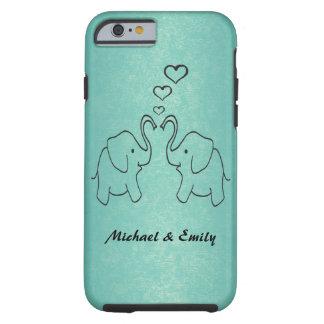 Entzückende niedliche Elefanten in der Liebe Tough iPhone 6 Hülle