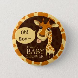 Entzückende Schatz-Giraffen-Babyparty-Knöpfe Runder Button 5,1 Cm