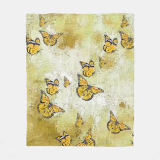 Entzückende Schmetterlinge, gelb Fleecedecke