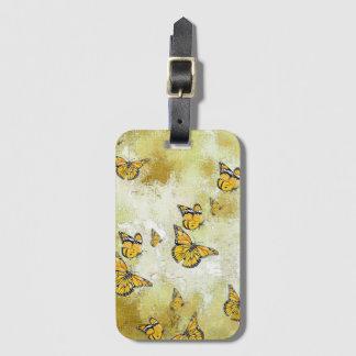 Entzückende Schmetterlinge, gelb Gepäckanhänger