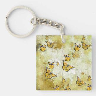 Entzückende Schmetterlinge, gelb Schlüsselanhänger