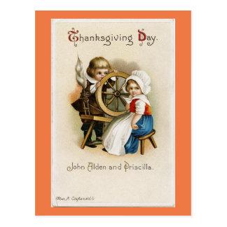 Entzückende Vintage Pilger Postkarte