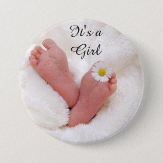 """Entzückender """"es ist ein Mädchen-"""" Knopf Runder Button 7,6 Cm"""