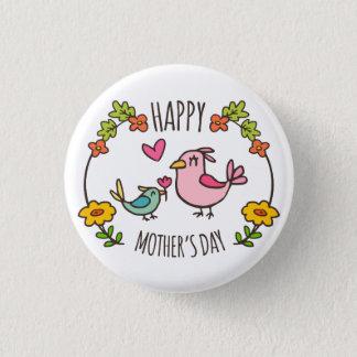 Entzückender glücklicher Button-Knopf der Mutter Runder Button 3,2 Cm