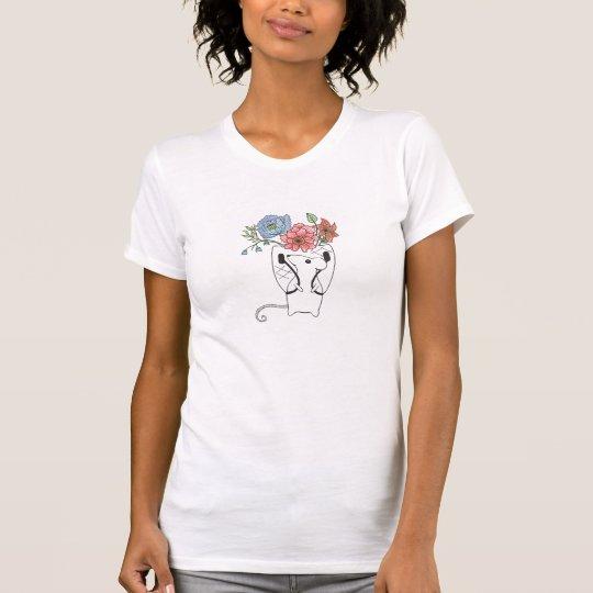 Entzückender MäuseBlumenverkäufer T-Shirt