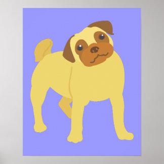 Entzückender Mops-Hund Poster
