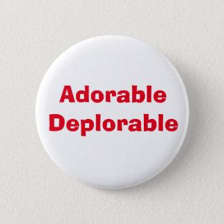 Entzückendes bedauernswertes runder button 5,1 cm