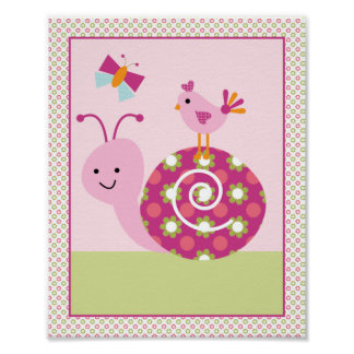 Entzückendes Garten-Baby-Kinderzimmer-Kunst-Plakat Poster