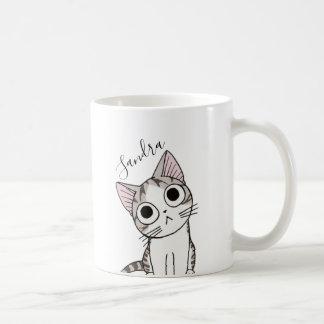 Entzückendes Kätzchen für die Kaffeetasse
