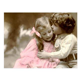 Entzückendes kleines Mädchen und Junge Postkarte