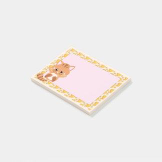 Entzückendes orange Tabby-Tiger-Kätzchen Post-it Klebezettel