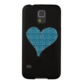 Entzückendes reizend Tierdruckherz Samsung Galaxy S5 Cover