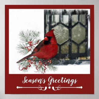 Entzückendes rustikales Ren im Winter Poster