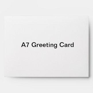 Enveloppe personnalisée de carte de voeux A7