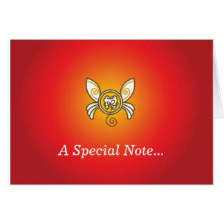 Envoyez une note spéciale de la fée de dent ! carte de correspondance