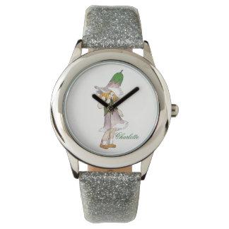 Enzian-niedliches Blumen-Kinderlustiges mit Armbanduhr