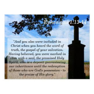 Ephesians 1 Quercodierte Karte der Schrifts-13 14