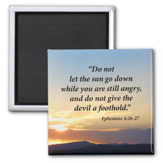 Ephesians 4:26 - 27 quadratischer magnet