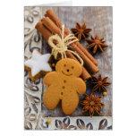 Épices de Noël, gingembre et étoiles d'anis Carte De Vœux